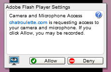 ChatRoulette Webcam: Click on the 'Allow' button.